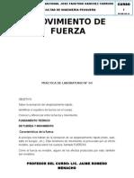 MOVIMIENTO DE FUERZA FISICA I