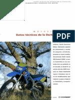 Datos Técnicos de La Derbi Senda R00