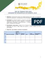 Planes de Trabajo Desarrollo Estudiantil