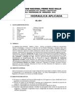 Silabo Hidraulica Aplicada 2015 II