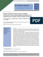 A 2014. Estudio Comparativo Entre Cirugía Retrógrada Intrarrenal y Micro Nefrolitotomía Percutánea
