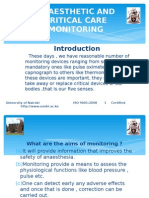 Anaesthetic and Critical Care Monitoring