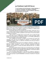 19.08.2014 Comunicado Entrega Esteban 6 Mil 610 Becas