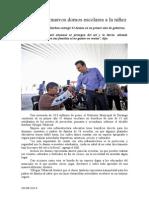 23.08.2014 Comunicado Protegen 42 Nuevos Domos Escolares a La Niñez