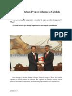 24.08.2014 Comunicado Entrega Esteban Primer Informe a Cabildo