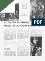 Teatro de títeres como medio educativo