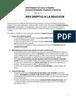 1177 Raportul Copiilor Dreptul La Educatie