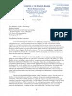 Trey Gowdy Letter to Elijah Cummings