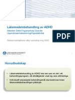 Läkemedelsbehandling - ADHD - Rek