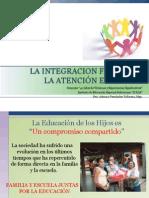 La Integracion Familiar y La Atención Educativa