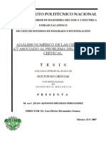 Analisis Numerico de Las Cervicales C3-C7 Asociado Al Problema Del Latigazo Cervical