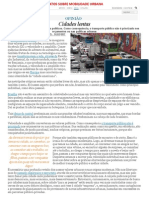 Textos Sobre Mobilidade Urbana.2015