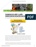 Fenomenos Del Niño y La Niña Consecuencias Desastres Naturales