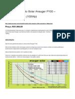 Kit Bombeamento Solar Anauger P100