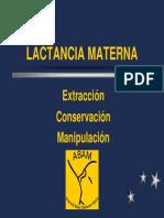 Lactancia Materna - Extracción, Conservación y Manipulación