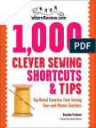 1,000 Clever Sewing Shortcuts and Tips- Top-Rated Favorites From Sewing Fans and Master Teachers by Deepika Prakash