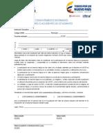 Consentimiento final - Firma de Padre Evaluación