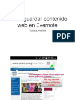 Guardar una página web en Evernote- Tableta Android