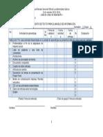 Info1 u2 3a 2015 Lista de Cotejo de Desempeño