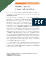 La Evolución Del CIO Para Las Organizaciones de Latinoamérica