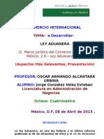 Comercio Internacional (Ley Aduanera)
