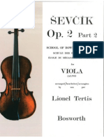 Oskar Sevcik School of Bowing Technique Viola Studies - Op 2 Part 2