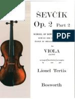 Oskar Sevcik School of Bowing Technique Viola Studies - Op 2 Part 2