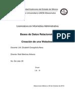 Practica SQL Creacion de Websheet