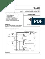circuito integrado Tda7297