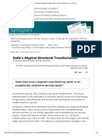 India's Atypical Structural Transformation - Economic Synopses - St.pdf