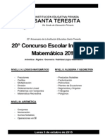 Concurso Interno de Matemática