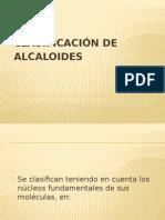 clasificacion de alcaloides