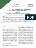 Tratamiento Anaerobio Mesófilos de Los Lodos de Efluentes de Las Granjas de Peces de Solución Salina Con La Producción de Biogás