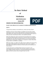 The Basic Method of Meditation