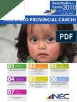 Resultados Censo 2010 Provincia del Carchi