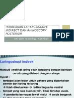 Perbedaan Laringoskop Indirect Dan Rhin Post