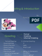 Greeting Introduction