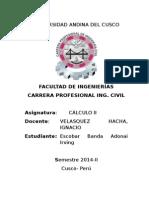Aplicacione Integrales Multiples en Ing Civil