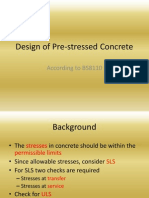 Design of Pre-stressed Concrete
