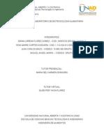 Informe de Laboratorio de Biotecnologia Alimentaria