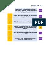 1. Planilha Para Controle de Estudos VERSÃO BETA 1.2