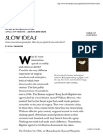 Slow Ideas - The New Yorker