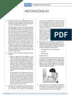 Sugerencias Metodólogicas. Unidad 4.