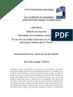 PROBLEMA INVERSO DE LAS ONDAS SISMICAS