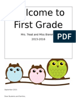 first grade policies and procedures