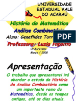 Historia Da Analise Combinatoria (Só Matematica)