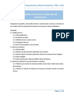 Unidad 3. Analisis de Error y Solucion de Ecuaciones