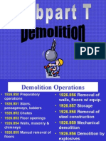 Demolition Sub T COnstruction