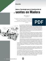 Puentes en Madera Construcción