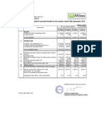 Financial Results with Results Press Release & Limited Review Report for Sept 30, 2015 [Result]